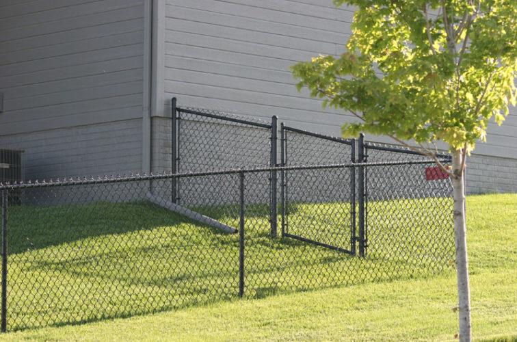 AFC Cedar Rapids - Chain Link Fencing, 100 4' black vinyl chain link