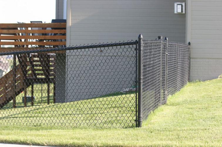 AFC Cedar Rapids - Chain Link Fencing, 101 4' black vinyl chain link 2