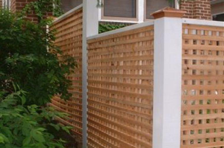 AFC Cedar Rapids - Wood Fencing, 1028 Lattice Fence