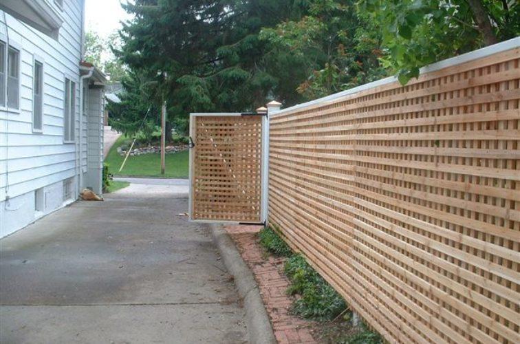 AFC Cedar Rapids - Wood Fencing, 1029 Lattice Fence
