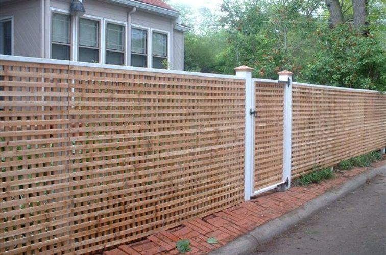 AFC Cedar Rapids - Wood Fencing, 1030 Lattice Fence