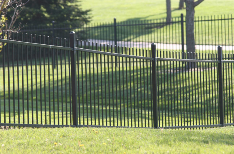 AFC Cedar Rapids - Ornamental Fencing, 1052 4' Genesis 2 rail black