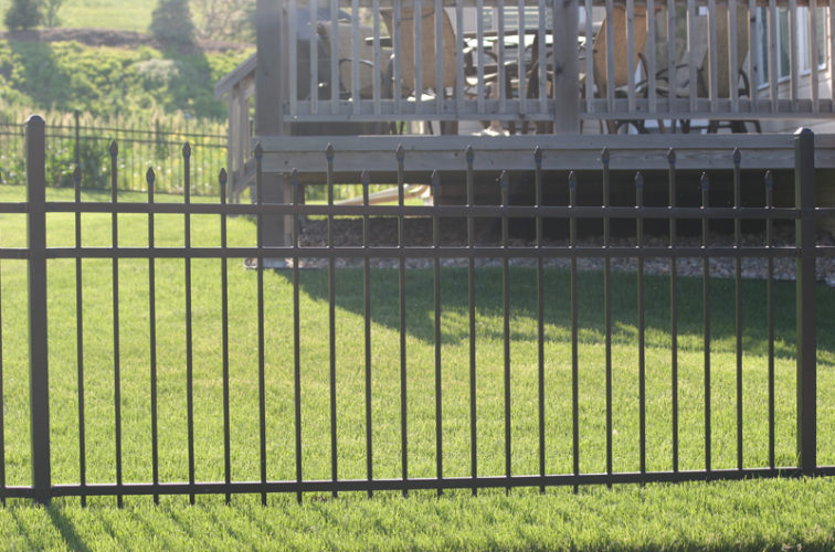 AFC Cedar Rapids - Ornamental Fencing, 1053 4' Warrior 3 rail black 2