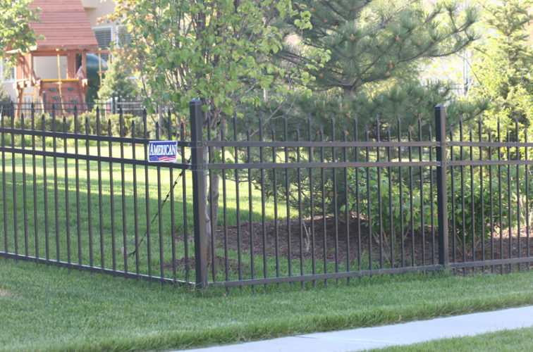 AFC Cedar Rapids - Ornamental Fencing, 1054 4' Warrior 3 rail black 3