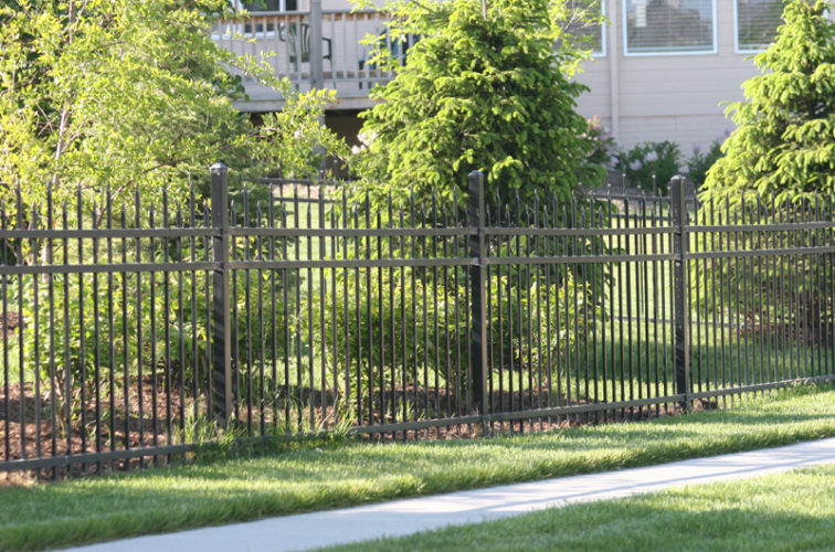 AFC Cedar Rapids - Ornamental Fencing, 1055 4' Warrior 3 rail black 4
