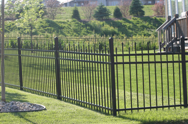 AFC Cedar Rapids - Ornamental Fencing, 1056 4' Warrior 3 rail black