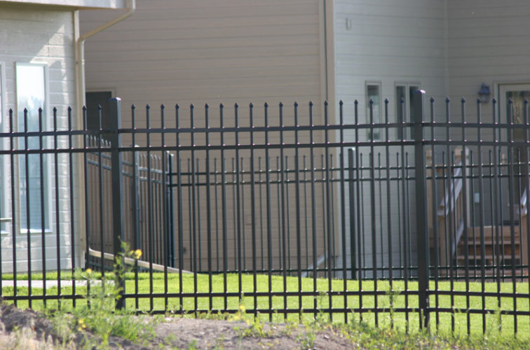 AFC Cedar Rapids - Ornamental Fencing, 1059 6' Classic 4 rail black 3