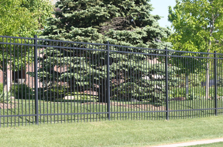 AFC Cedar Rapids - Ornamental Fencing, 1062 6' Majestic 3 rail black
