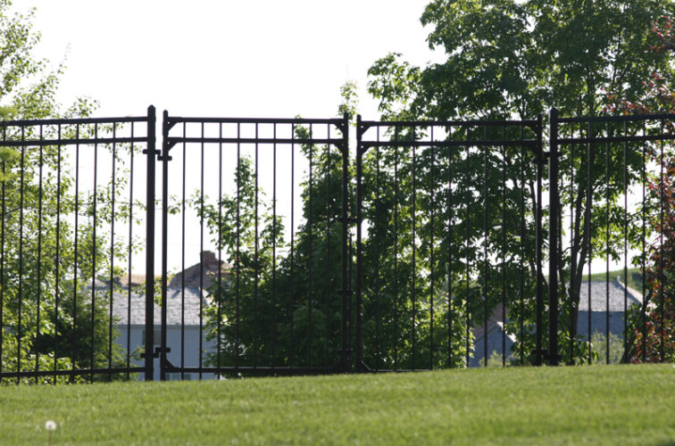 AFC Cedar Rapids - Ornamental Fencing, 1063 6' Majestic 3 rail double drive gate