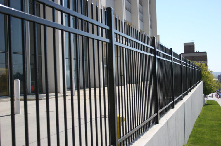 AFC Cedar Rapids - Ornamental Fencing, 1078 Classic Black Energy Services Fence