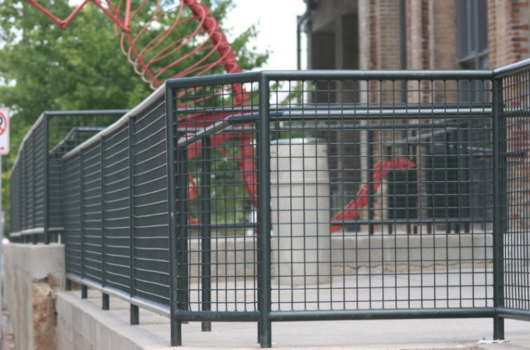 AFC Cedar Rapids - Custom Railing, 2207 Railing with heavy mesh infill