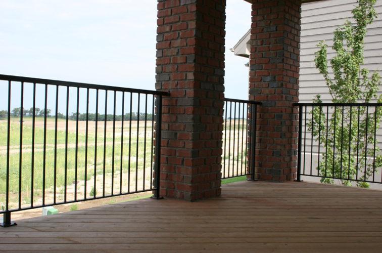 AFC Cedar Rapids - Custom Railing, 2210 Deck railing