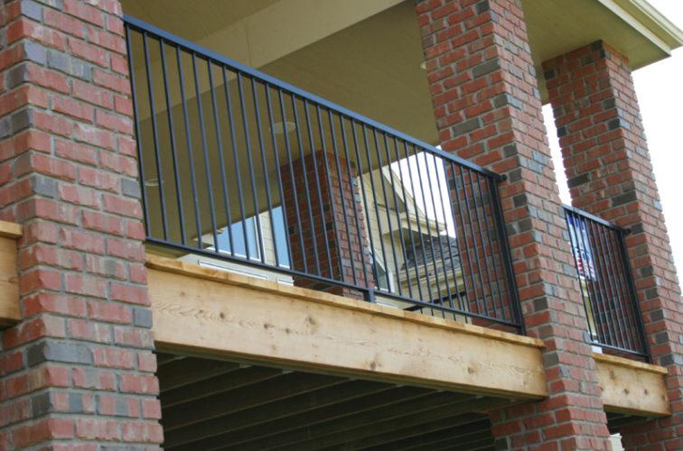 AFC Cedar Rapids - Custom Railing, 2214 Deck Railing