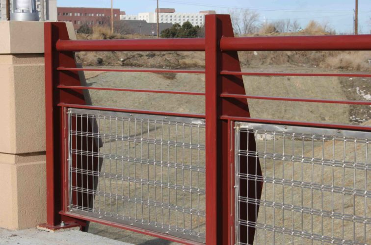 AFC Cedar Rapids - Custom Railing, 2224 Stainless Steel In-fill Railing