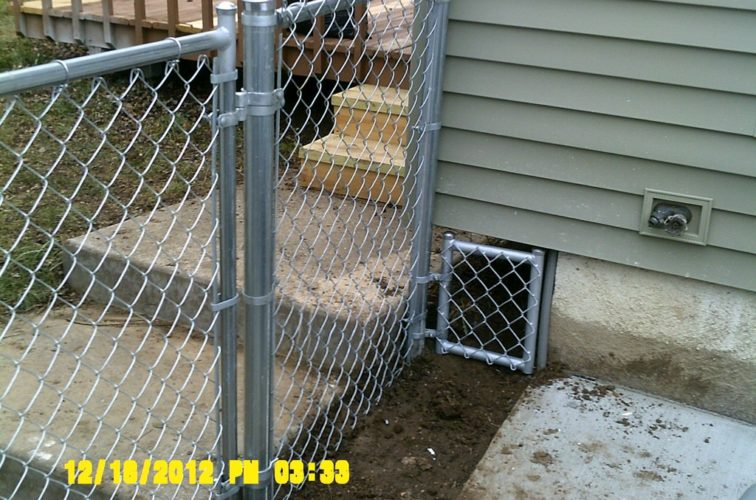 AFC Cedar Rapids - Chain Link Fencing, 4' Galvanized Chain Link With Custom Panel - AFC - IA