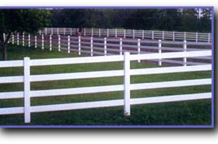 AFC Cedar Rapids - Vinyl Fencing, 4 Ranch Rail (958)
