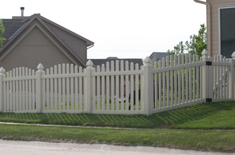 AFC Cedar Rapids - Vinyl Fencing, 4' overscallop picket