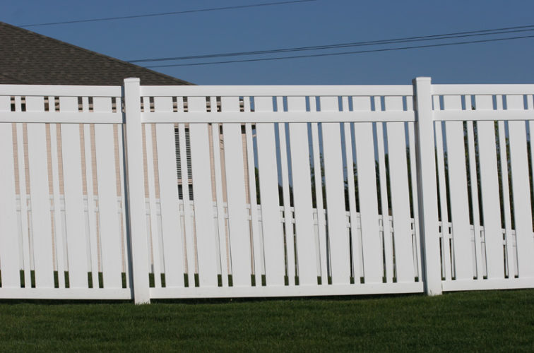 AFC Cedar Rapids - Vinyl Fencing, 6' Alternating Picket 572