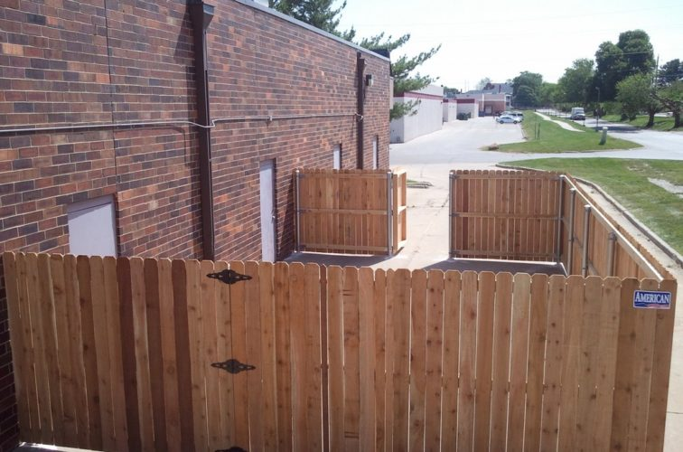 AFC Cedar Rapids - Wood Fencing, 6' Solid Wood with Steel Posts - AFC - IA
