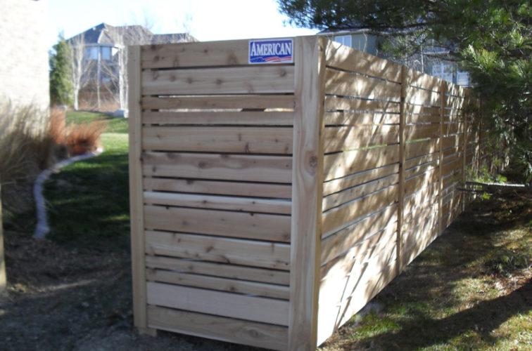 AFC Cedar Rapids - Wood Fencing, 6' Horizontal Wood White A