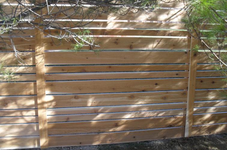 AFC Cedar Rapids - Wood Fencing, 6' Horizontal Wood White B