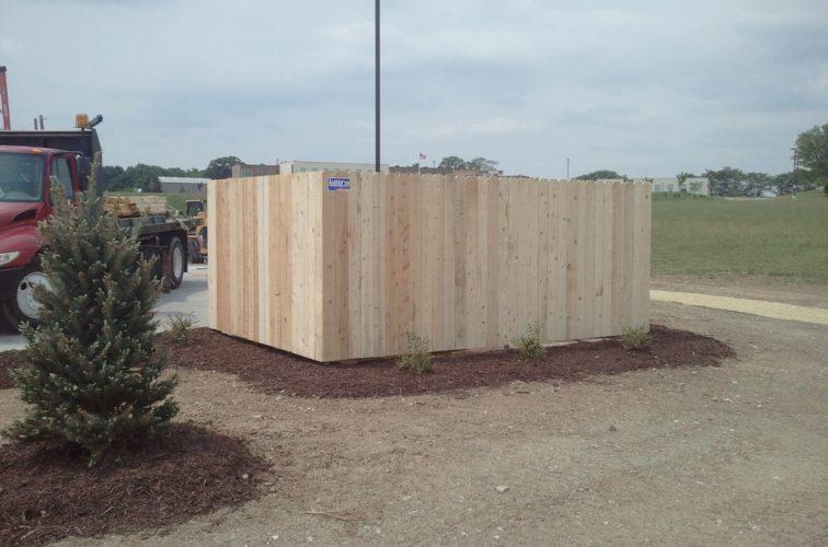 AFC Cedar Rapids - Wood Fencing, 6' Solid Dumpster Enclosure - AFC - IA