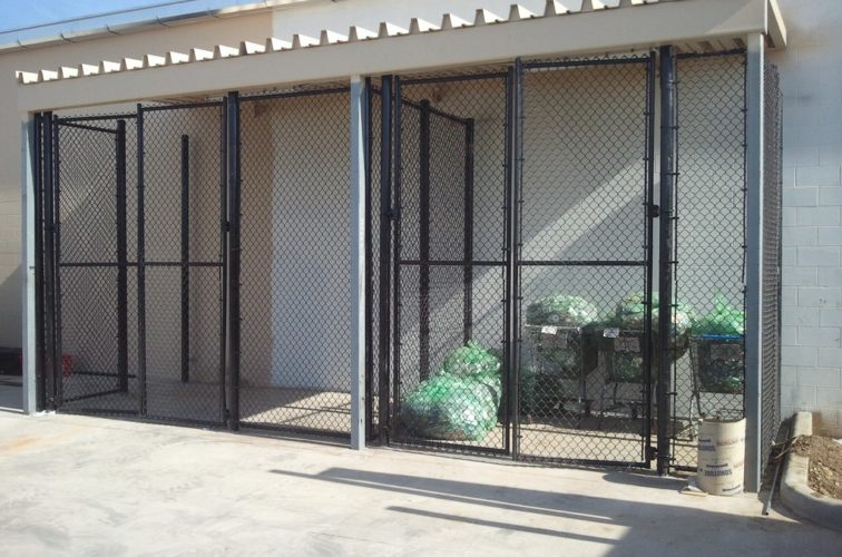 AFC Cedar Rapids - Chain Link Fencing, 8' Chain Link Recycling Enclosure - AFC - IA