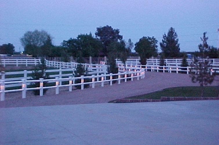 AFC Cedar Rapids - Vinyl Fencing, AZ Mortenson lighted entry