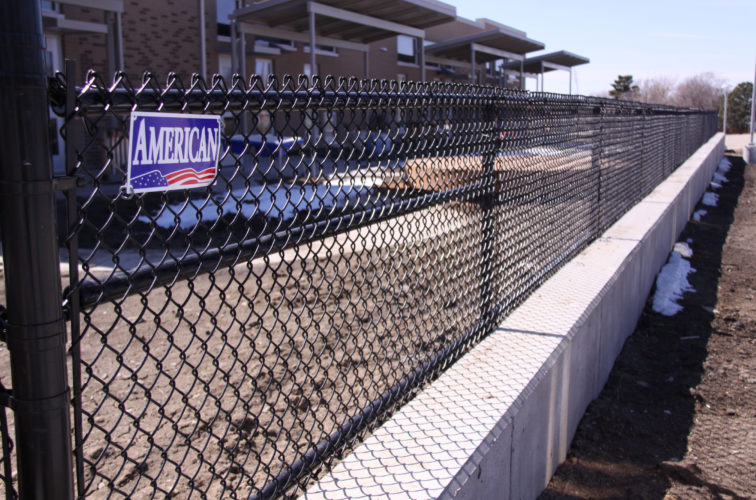 AFC Cedar Rapids - Chain Link Fencing, Black Vinyl Chain Link 4' Tall