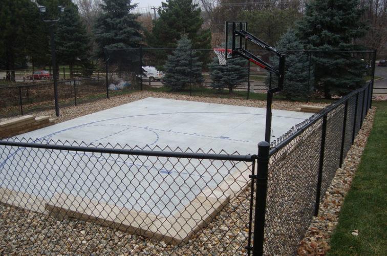 AFC Cedar Rapids - Sports Fencing, Black Vinyl Chain Link Sport Court AFC, SD