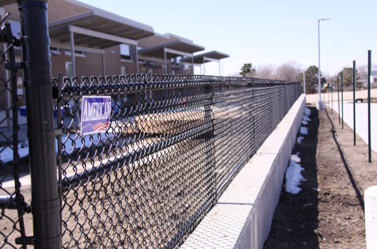 AFC Cedar Rapids - Chain Link Fencing, Black Vinyl Chain Link Track Fence