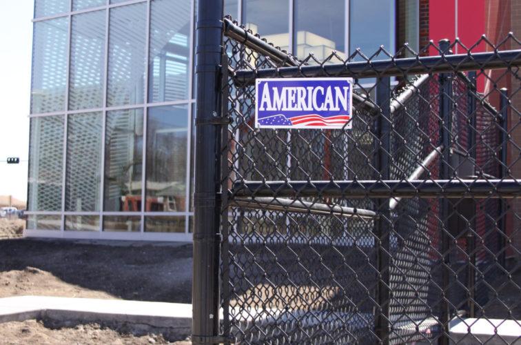 AFC Cedar Rapids - Chain Link Fencing, Black vinyl chain link