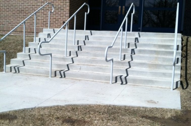 AFC Cedar Rapids - Custom Railing, Custom Galvanized Handrail 3 - AFC - IA