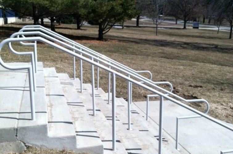 AFC Cedar Rapids - Custom Railing, Custom Galvanized Handrail 4 - AFC - IA