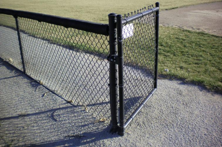 AFC Cedar Rapids - Chain Link Fencing, Black Vinyl-AFC-Grand Island