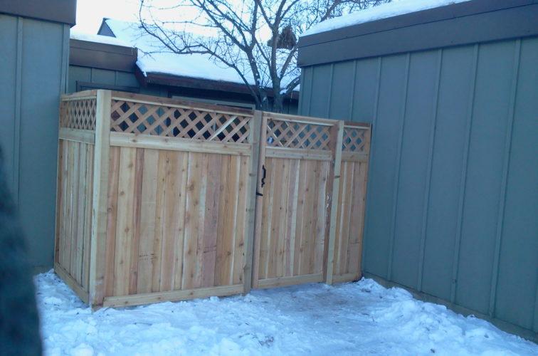 AFC Cedar Rapids - Wood Fencing, Custom Wood Privacy with Lattice AFC, SD
