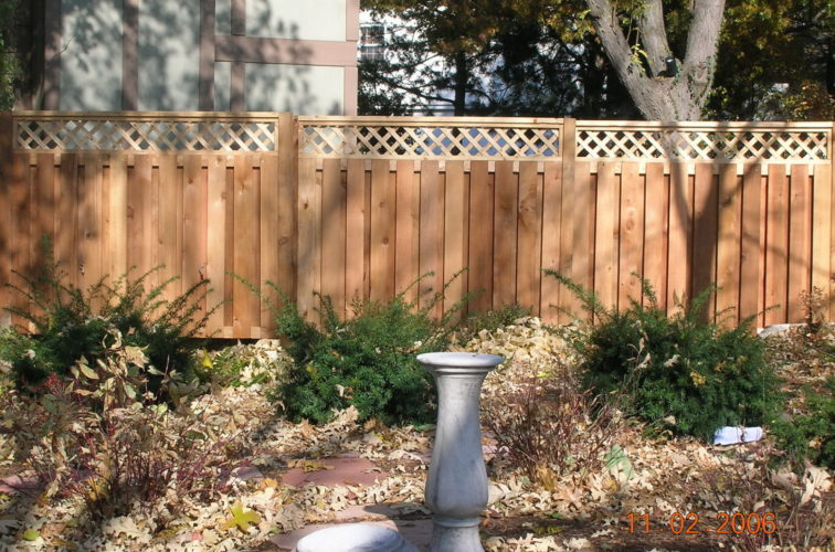 AFC Cedar Rapids - Wood Fencing, Custom with lattice