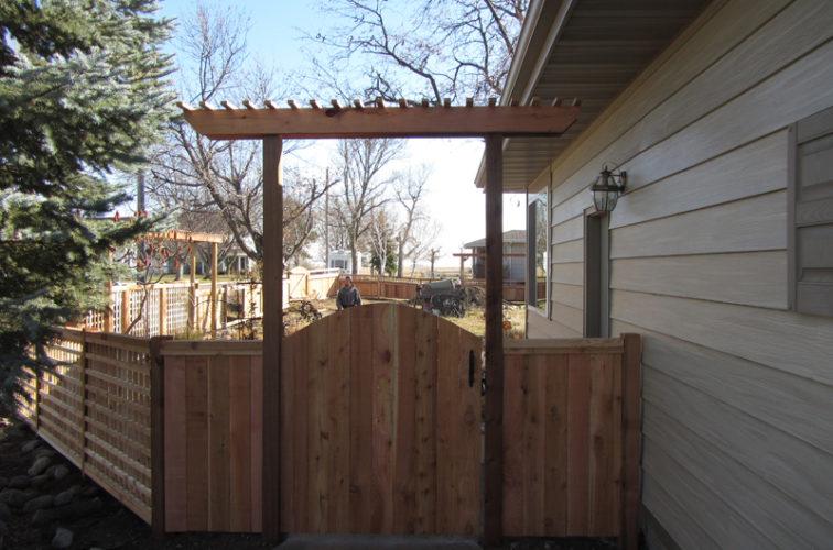 AFC Cedar Rapids - Wood Fencing, Decorative Cedar Gate AFC, SD