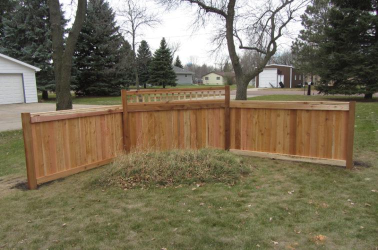 AFC Cedar Rapids - Wood Fencing, Decorative Cedar Privacy with Picket Accent AFC, SD