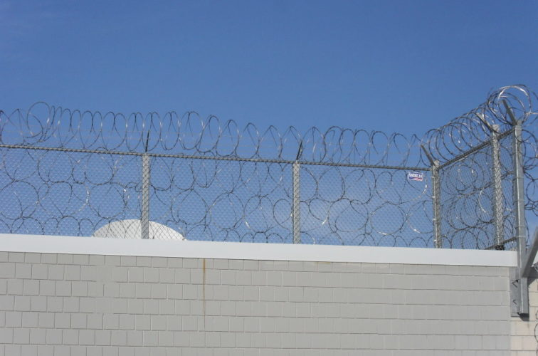 AFC Cedar Rapids - High Security Fencing, Four Stack Concertina Wire