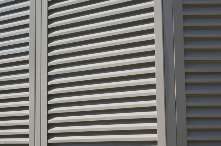 AFC Cedar Rapids - Louvered Fence Systems Fencing, Louvered Fence Panel Angled Post Connection
