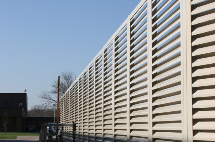 AFC Cedar Rapids - Louvered Fence Systems Fencing, Louvered Fence Panel Top Cap