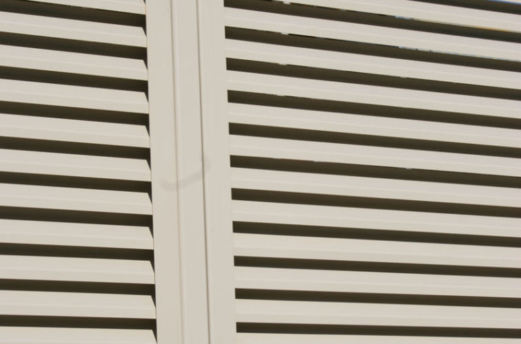 AFC Cedar Rapids - Louvered Fence Systems Fencing, Louvered Fence Post