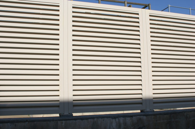 AFC Cedar Rapids - Louvered Fence Systems Fencing, Louvered Fence System