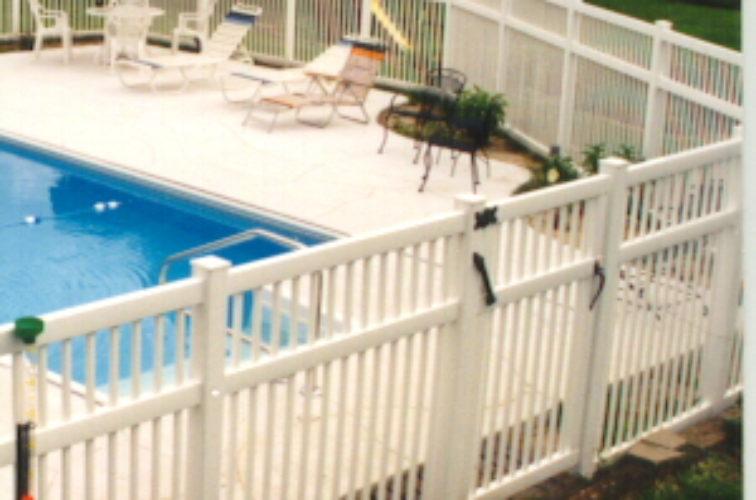 AFC Cedar Rapids - Vinyl Fencing, Pool Style Picket with 3 rails 583