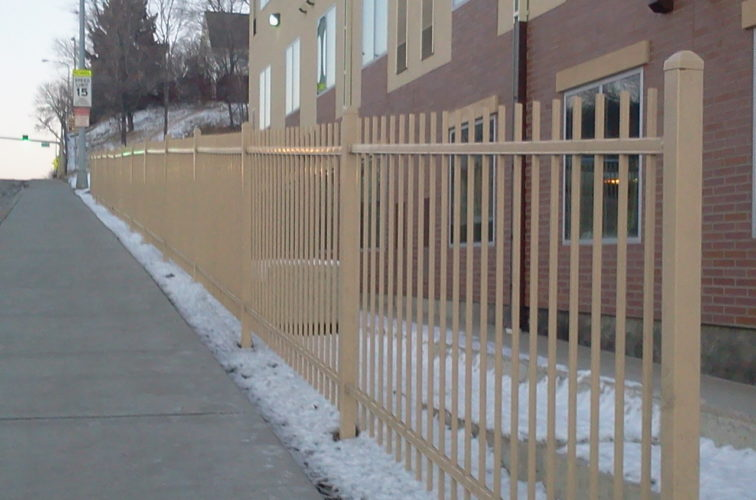 AFC Cedar Rapids - Ornamental Fencing, Sandstone Ornamental Fence