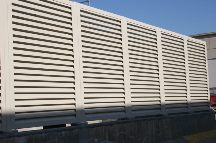AFC Cedar Rapids - Louvered Fence Systems Fencing, Steel Louvered Fence System
