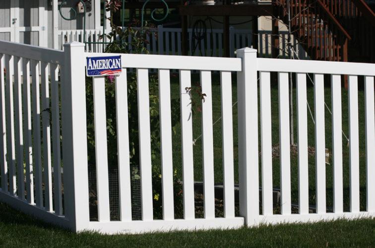 AFC Cedar Rapids - Vinyl Fencing, 4' closed rail picket 585