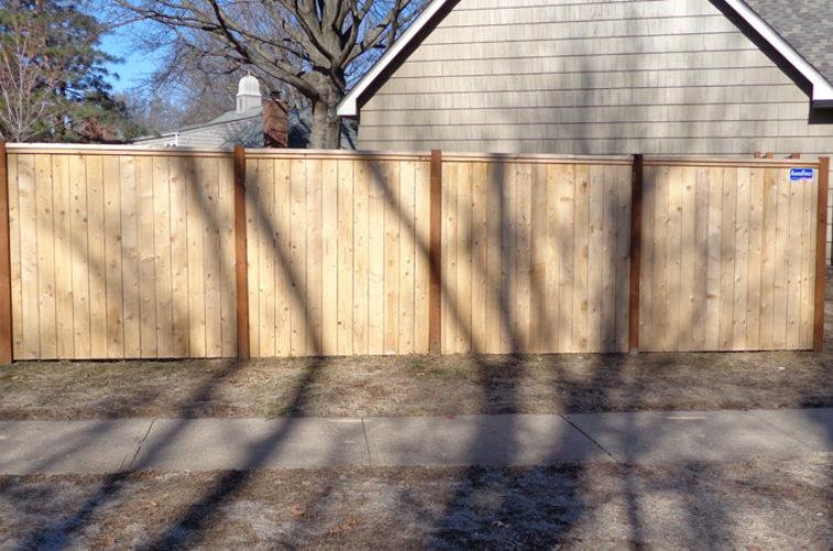 AFC Cedar Rapids - Wood Fencing, 6' Privacy with Cap Board - AFC-KC