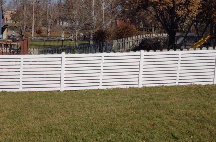 AFC Cedar Rapids - 4' White Vinyl Horizontal Picket Fence
